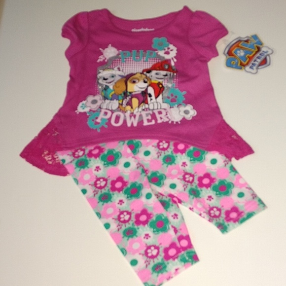 cee6fdc8a08bf Nickelodeon Matching Sets | Nwt Paw Patrol Pup Power Shirt Leggings ...